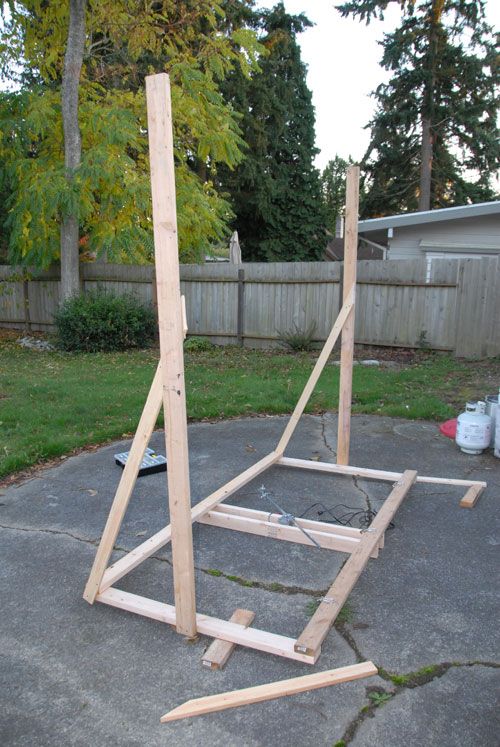Attach Legs and Supports To Frame