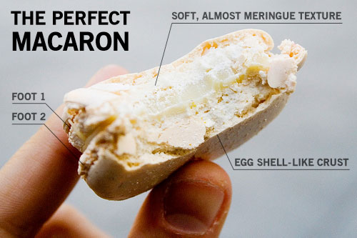 French macaroon cross-section