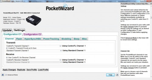 PocketWizard Utility Screenshot